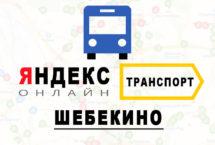Яндекс транспорт в городе Шебекино