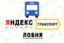 Яндекс транспорт в городе Лобня